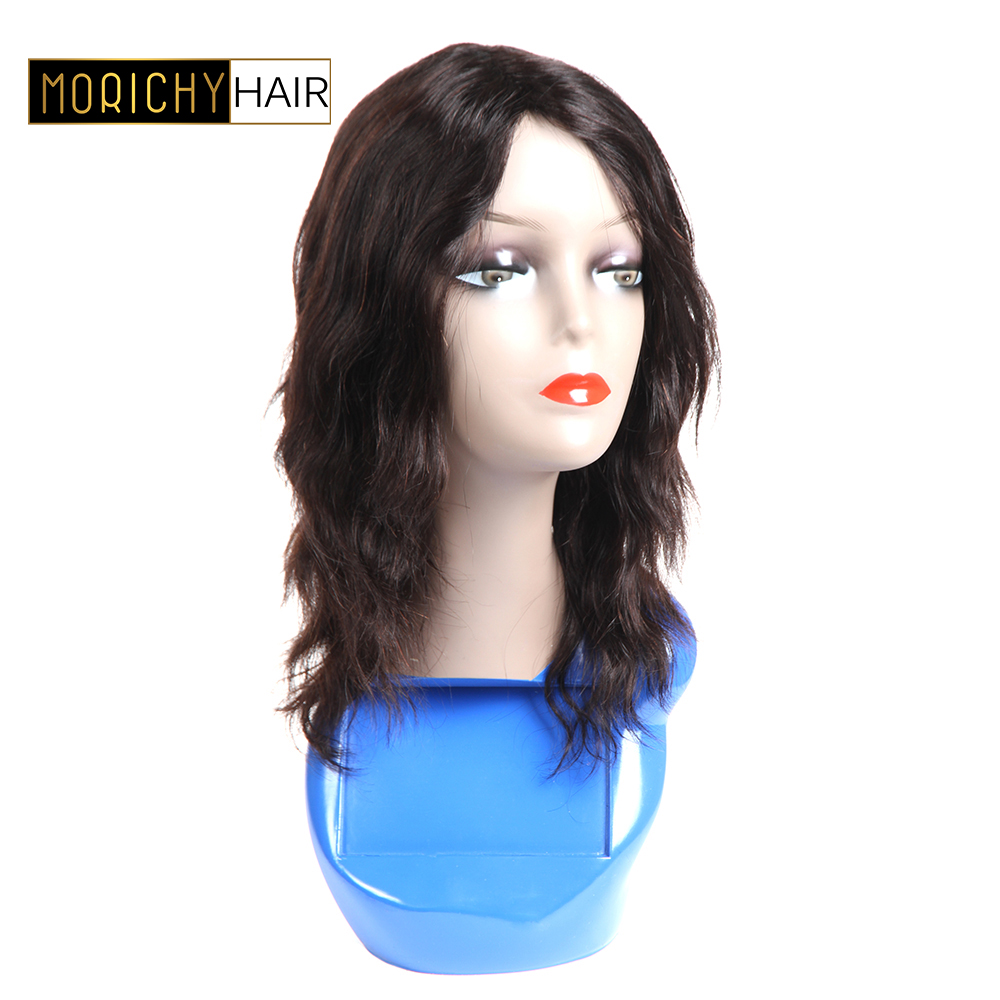 Brazilian Wavy Human Hair Wig Glueless Non Lace Wig Body Wave Machine Made Wig For Women Non Remy Wigs