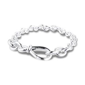Женский браслет на цепочке GPY, браслет из стерлингового серебра 925 пробы с узлом бесконечности, ювелирные изделия