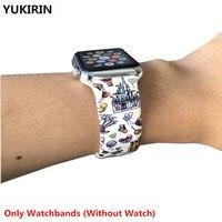 Correas con estampado de pesadilla para Apple Watch, banda de silicona de 44mm y 40mm para iWatch de 42mm y 38mm para Apple Watch Series 6 SE 5 4 3 2 1