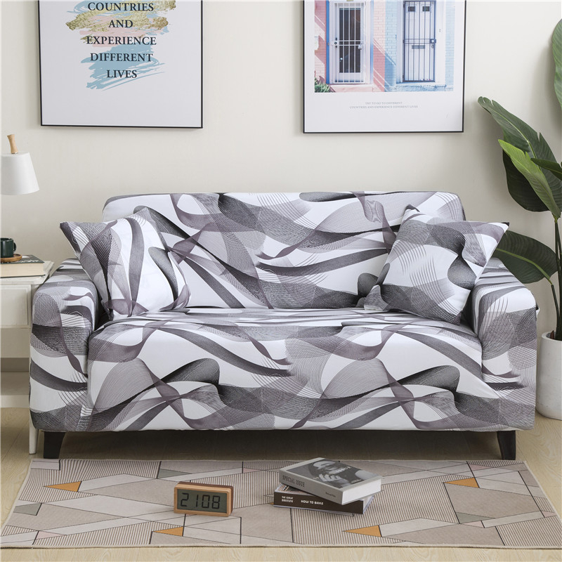 Universal High Elastic Polyester Sofa Cover Stretch Non-slip Sectional L-shaped Couch Protective Cover Soft Cozy Slipcover image
