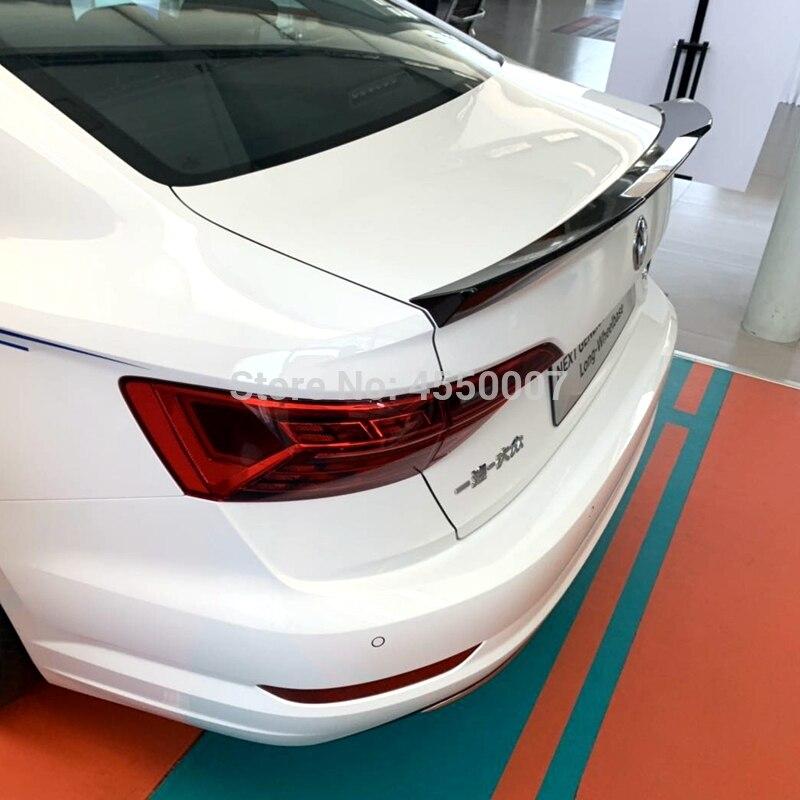 For Volkswagen Jetta Spoiler 2019 ABS Material Car Rear Wing Primer Rear Tail Spoiler for VW 19 Jetta Sport Spoiler(China)