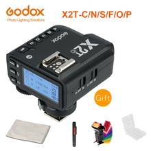 Godox X2T C X2T N X2T S X2T F X2T O X2T P ttl sem fio flash gatilho transmissor para canon nikon sony câmera bluetooth hss