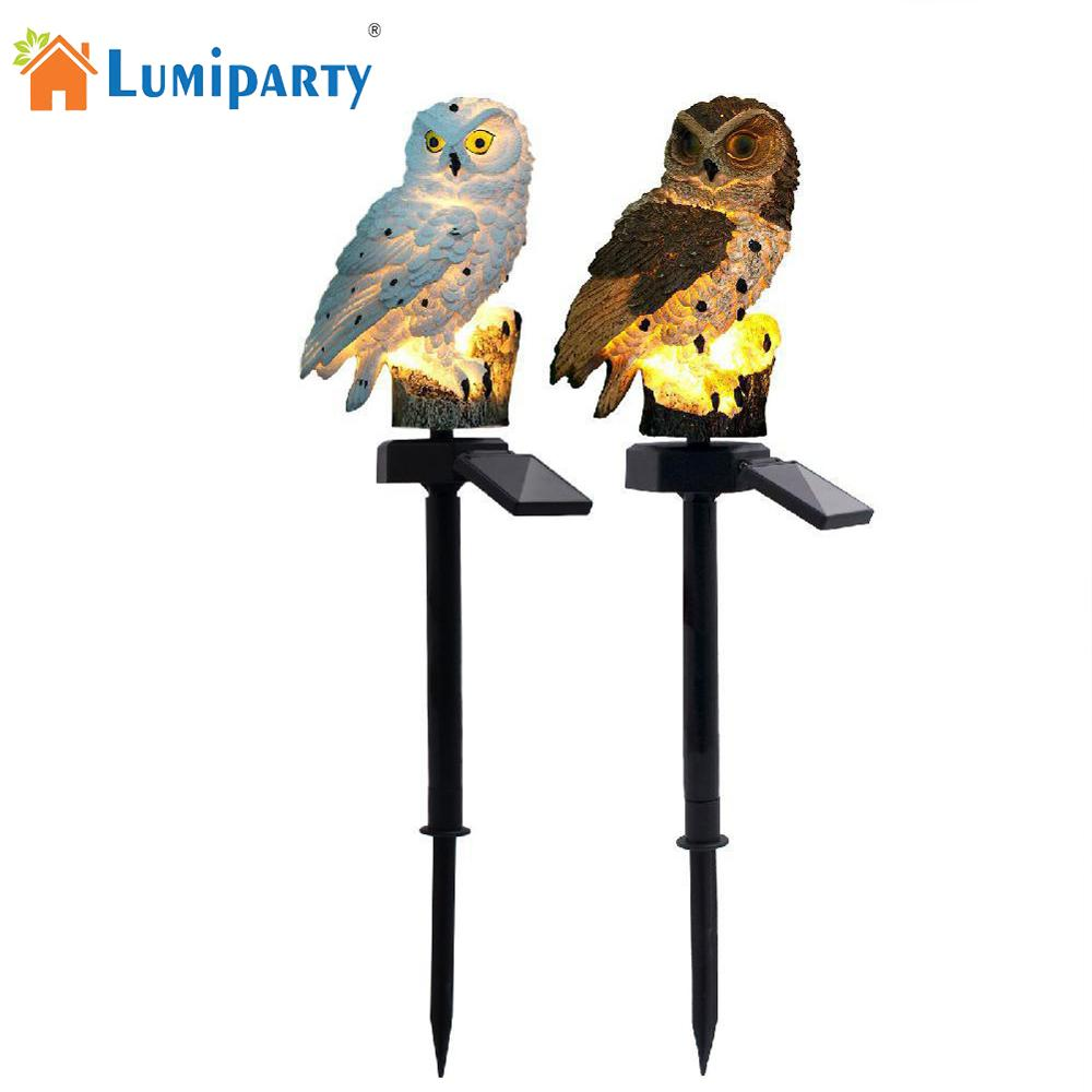 Dropshippin LED Garden Lights Solar LED Panel Fake Owl Light New Arrival Solar-Powered Lawn Lamp Home Garden Creative Solar Lamp