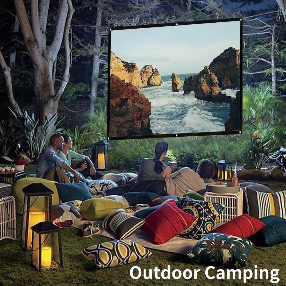 Lejiada projetor simples para casa, cortina simples, para área externa, ktv, escritório, 3d hd, tela projetora