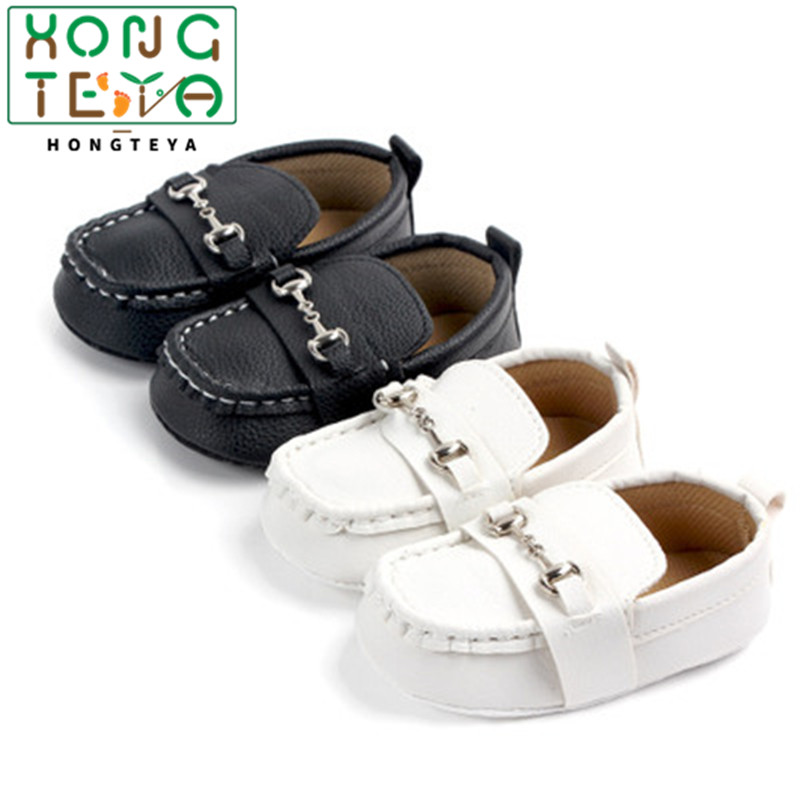 Baby Boy Shoes For 0-18M Newborn Baby Casual Shoes Pu Leather Toddler Infant Loafers Shoes Cotton Soft Sole Baby Moccasins