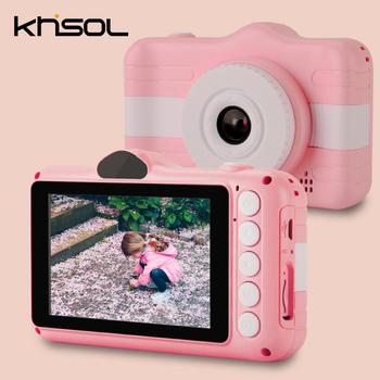 Mini dla dzieci aparat fotograficzny druk cyfrowy aparat fotograficzny 3 0 cala 1080P HD 12MP aparat cyfrowy dla zabawka dla dzieci aparat dla dzieci tanie i dobre opinie GOLDFOX 2x CN (pochodzenie) Rozpoznawanie twarzy Full hd (1920x1080) CMOS 2 3 cali 18-55 mm NONE 24 0MP Children s camera