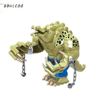 1Pc Crocodile Blocks Wild Animal Figure Set Building Blocks Bricks DIY Educational Toys for Children hc magic diamond building blocks bricks cartoon money pot pikachu anmie build blocks educational toys for boys girls children