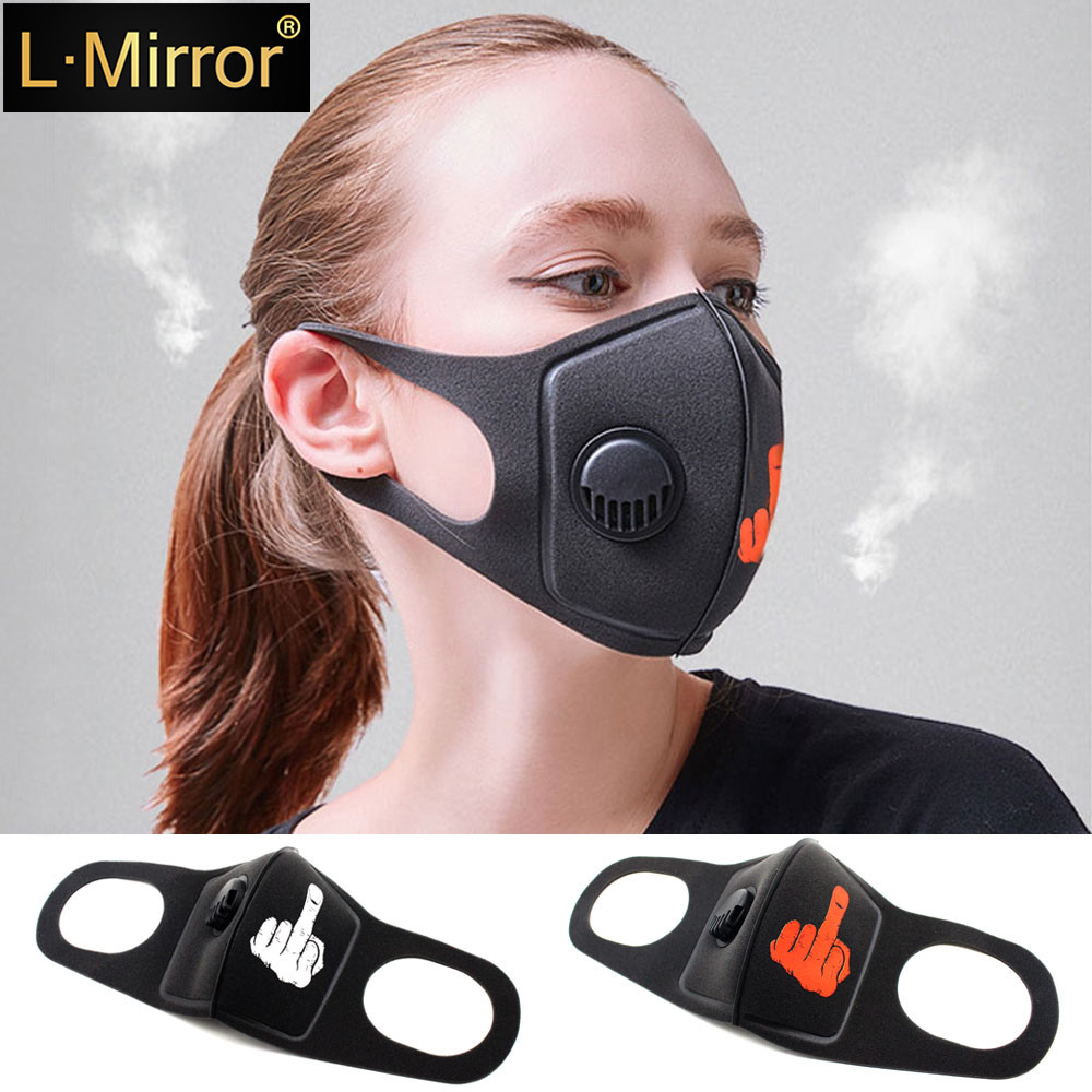 L.Mirror 1Pcs Anti Pollution Mask PM2.5 Air Dust Face Masks Washable Mouth Cover Dustproof Respirator Safety Mask With Breath