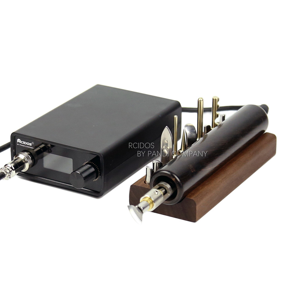 SH01 RCIDOS Electric Leather Edge Creaser,Digital Accurate Temperature Control Leather Creaser,110-240V