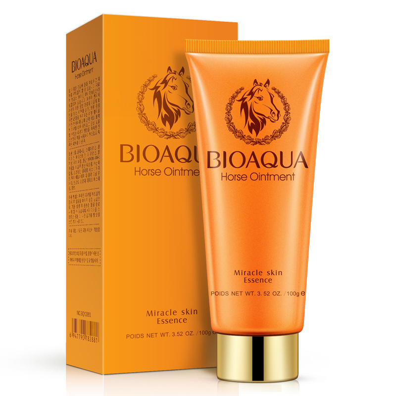 Boquanya Horse Oil Cleansing Foam Cleanser Deep Cleaning Oil-control Shrink Pores Remove Blackhead Women's Hot Selling