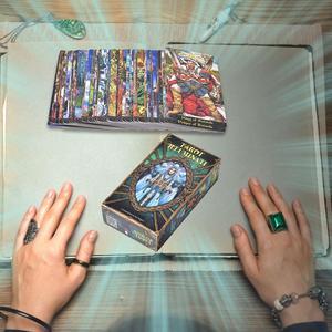 78 шт., комплект подсветки Таро, карточный стол, колода, игры для семьи, вечерние, английские игры, настольные игры, развлечения