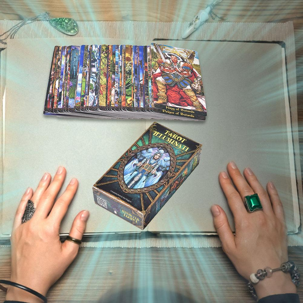 78 Tarot Illuminati Kit Tarot Cards Fortune Tarot Card Deck Board Game For Divination Fate Playing Cards Games