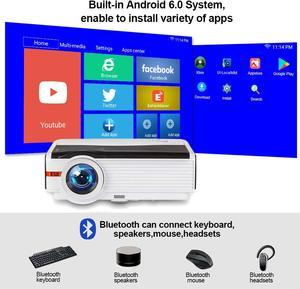 Image 4 - Caiwei LCD العارض 1080P أندرويد عارض فيديو 1G RAM 8G ROM السينما المنزلية Proyector للترفيه المنزلي/التعليم