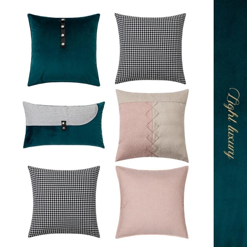 small fresh style cushion cover light luxury office sofa throw pillow covers soft home decor backrest pillowcase 30 50 45 45cm