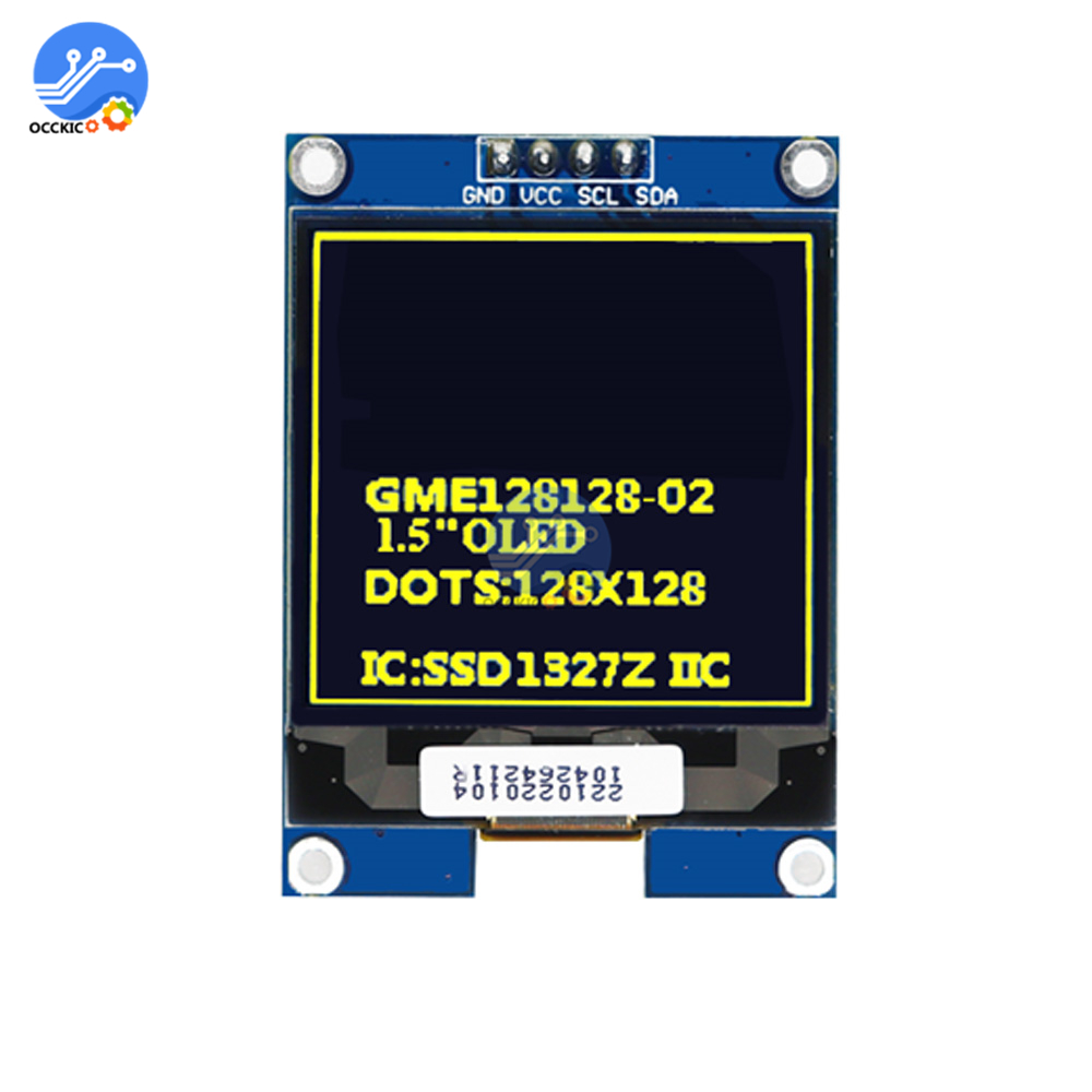 1.5 inch <font><b>oled</b></font> display module 128x128 screen <font><b>OLED</b></font> screen IIC interface <font><b>SSD1327</b></font> 1.5 inch <font><b>oled</b></font> LCD display module for arduino image