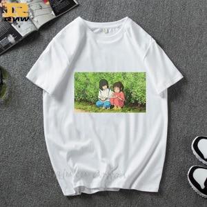 Spirit Away Studio Ghibli Chihiro Miyazaki Hayao No Face totoro Haku Yubaba Japanese cartoon Anime Women/Men Casual tshirt(China)