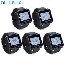 5 pces retekess t128 garçom chamada relógio receptor 433.92mhz para sistema de chamada sem fio restaurante equipamentos serviço ao cliente