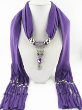 fringed pendant scarf cute fox ladies shawl jewelry