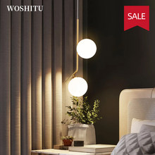 Modern LED Hanging Lamps Kitchen Island Lamp Simple Gold Light for Bedroom Bedside Aisle Indoor Wall Decor Lighting Fixture