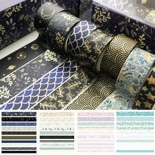 10Rolls/Set Stationery Supplies DIY Decorative Adhesive Scrapbook Paper Sticker Masking Tape Washi Tape