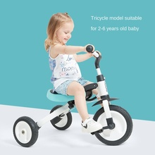 LazyChild 3-in-1 Infant Trike Foldable Balance Bike For Child  Multifunction Kid Kick Scooter Child Stroller With Fence 2021