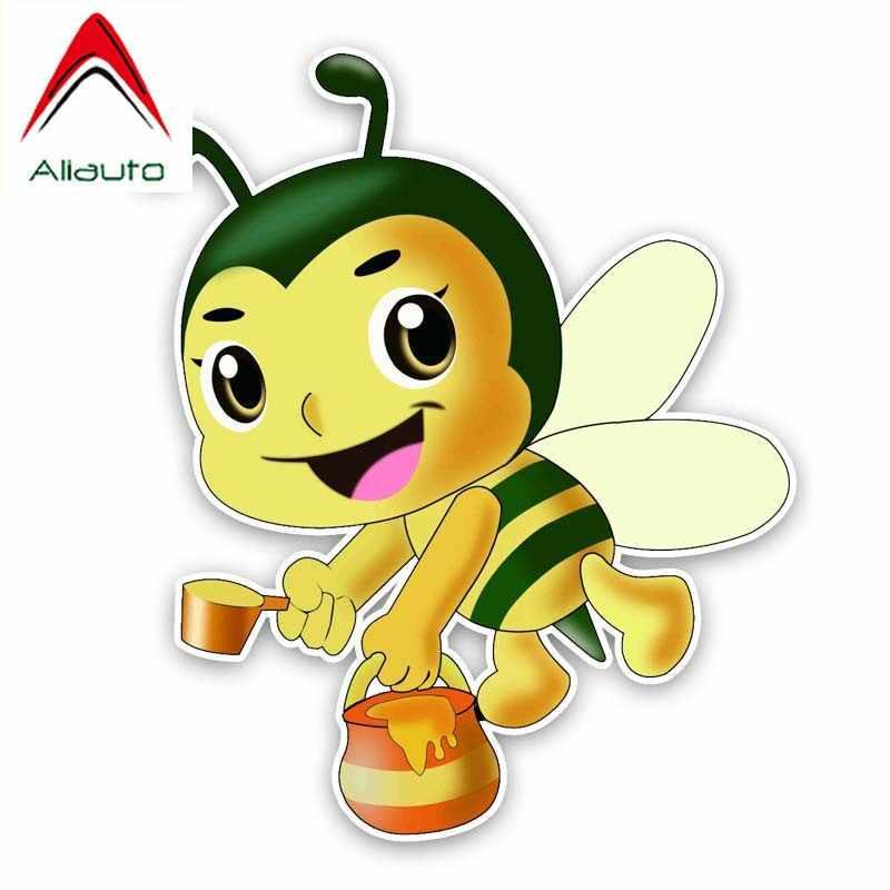 Aliauto autocollant de voiture intéressant abeilles font miel vinyle accessoires PVC décalcomanie pour Kia Sportage Opel Astra J, 14cm * 16cm
