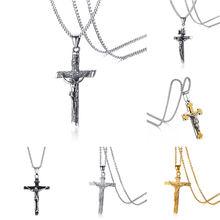 Vnox Ассорти католический крест кулон для мужчин ожерелье из