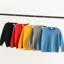 лучшая цена Toddler Boys Sweater Casual Long Sleeve Knitted Pullover Autumn Girls Cotton Sweater Kids 2019 Warm Winter Sweater Pull Fille