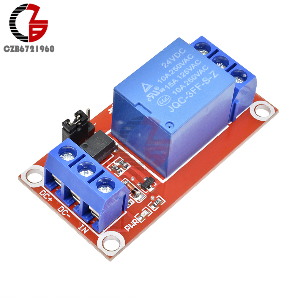 DC 24V 1 Channel Relay Module Board Shield with Optocoupler Isolation High and Low Level Trigger Switch Power Module For Arduino