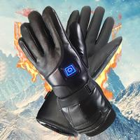 Men Women Rechargeable Electric Warm Heated Gloves Battery Powered Heat Gloves Winter Sport Heated Gloves for Climbing Skiing