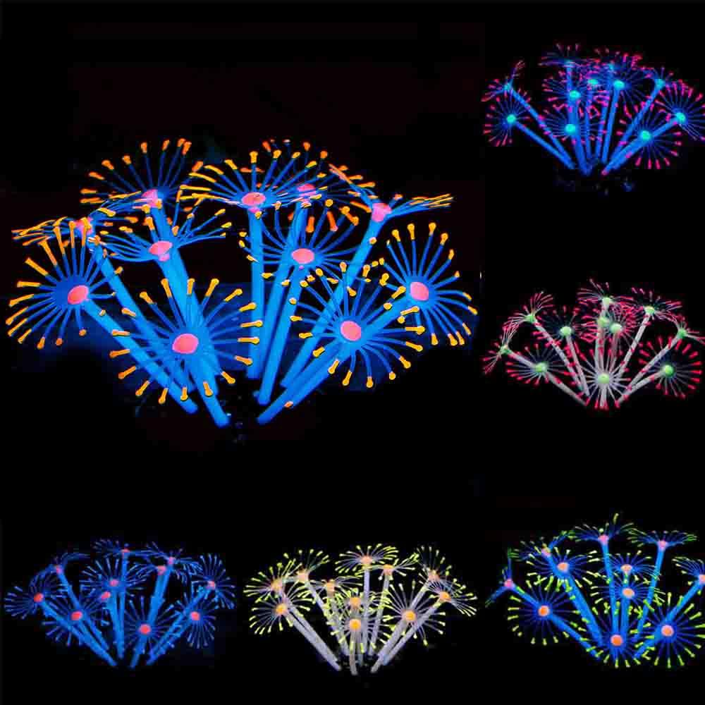 Fish Tank Coral ornament Sea Anemone  Aquarium Ornament Artificial D40