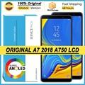 100% Оригинальный 6,0 ''AMOLED дисплей для Samsung Galaxy A7 2018 A750 SM-A750F A750F Полный ЖК сенсорный экран Запасные части
