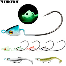 5pcs/lot Lead Jig Head Fishing Hook 3D Eyes Jig Head Fishhook For Soft Worm Fishing 3.5g 5g 7g 10g 14g