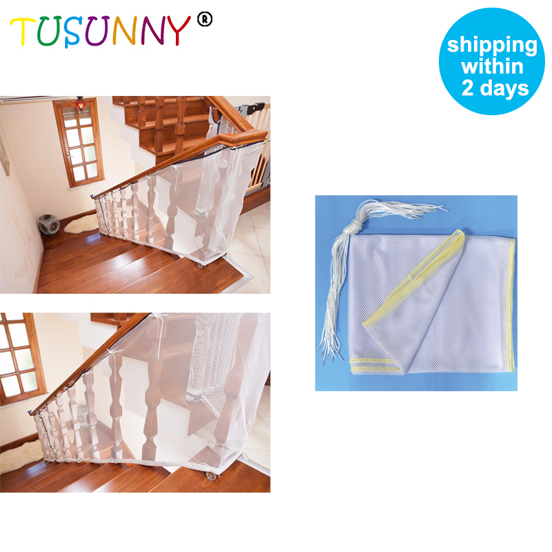 TUSUNNY Child Kid Protection Stair Fence Baby Stair Safety Net Balcony Baby Safety Fence Stair Net 80*300cm