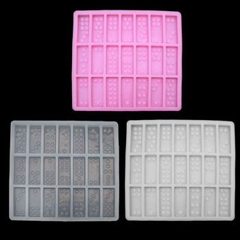 Silicone Dominoes Mold Chocolates Cake Candy Polymer Clay Dominoes Epoxy Resin Mold Dominoes Game Casino Fun Art Crafts handmade silicone dominoes resin casting mold dominoes game play epoxy resin mold dominoes game casino fun art crafts