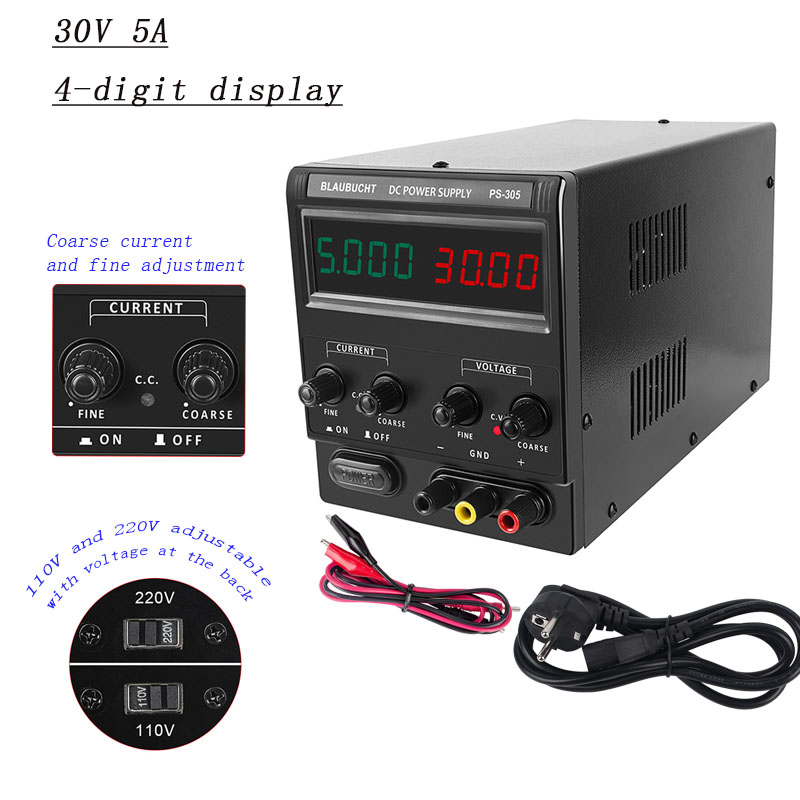 Lab DC Power Supply Adjustable Switching Bench Source Digital Voltage 30V 60V 120V 10A  5A 3A new 4-digit display Switch Powers