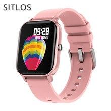Sitlos p8 relógio inteligente homem ipx7 modo multi-esporte à prova dmulti água freqüência cardíaca monitor de pressão arterial smartwatch para ios android feminino