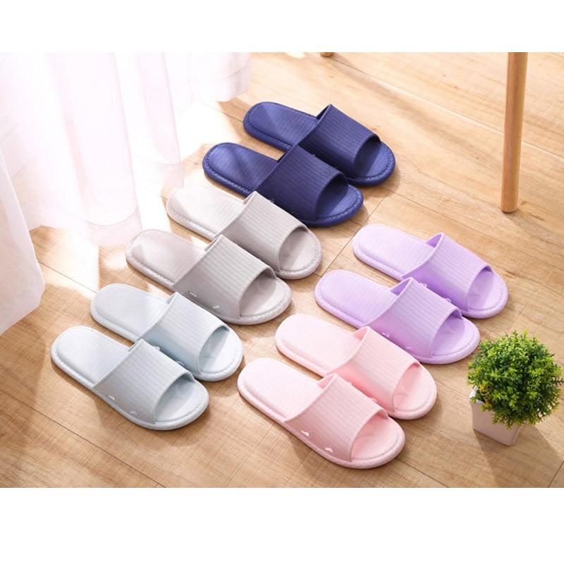 Women's Slippers 2020 New Non-slip Bathroom Hotel Slippers Pvc Plastic Indoor Sandals Men's Plastic Hotel Home Slippers