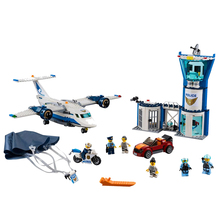 New City Bricks Sky Police Air Base Compatible Legoingly 60210 Building Blocks Figure for Children Christmas Gift