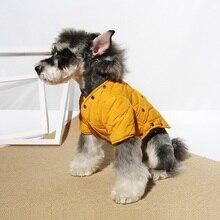 Домашние животные Чихуахуа Мопс Одежда для собак Йоркширский Шнауцер теплая зимняя куртка для питомца одежда Ropa Perro товары для животных горячая распродажа