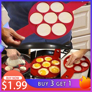 1Pcs Silicone Non Stick Fantastic Egg Pancake Maker Ring Kitchen Baking Omelet Moulds Flip cooker Egg Ring Mold(China)
