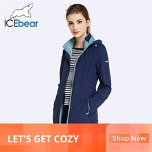 ICEbear 2019 Womens Coat High Quality  Fall  Long Trench Coa