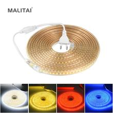 5M 10M 15M 20M 25M 30M LED Strip 220V AC Waterproof 120LEDs/M 2835 SMD Garden Outdoor lights Holiday Christmas Deccoration lamp