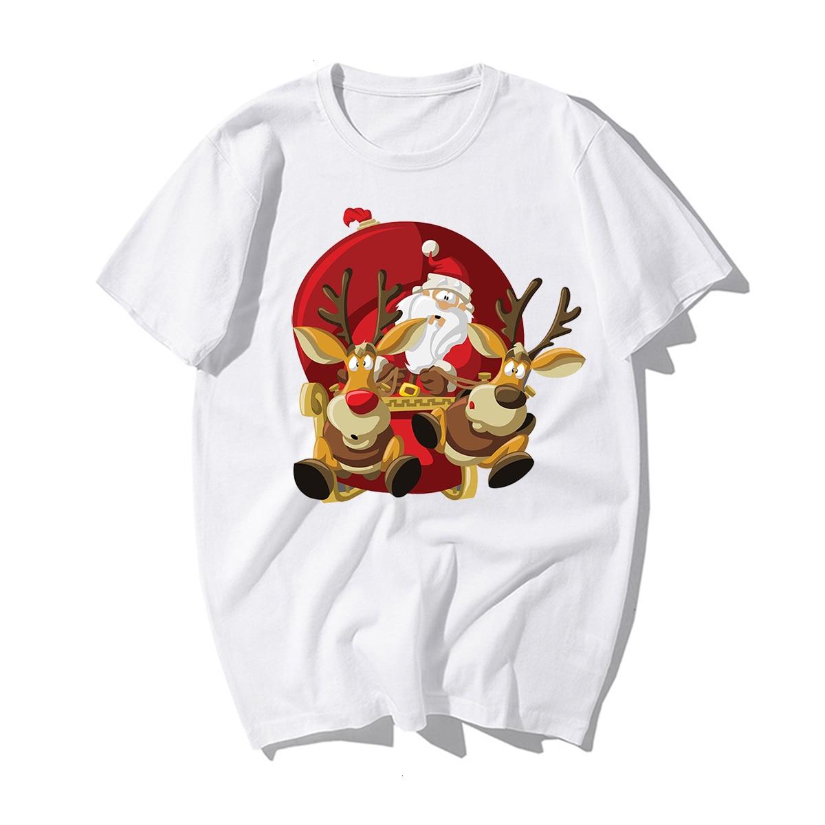 Funny Santa Claus Reindeer Lover CHRISTMAS GIFT T-SHIRT Happy New Year T Shirt Man Tshirt Merry CHRISTMAS Casual Cotton Kawaii 7