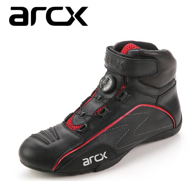 ARCX bottes de course moto boucle rotative respirante été moto de rue Scooter Motocross chaussures de démarrage
