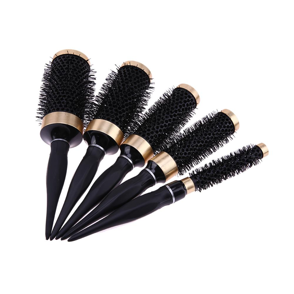 Round Hair Brush Comb Salon Black Hairbrush Curling Hair Comb Hairdressing Heat Resistant Hairbrushes Styling Accessories