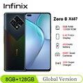 Глобальная версия Infinix ноль 8 X687 6,85 ''FHD + 8 Гб 128 90 Гц Helio G90T 64-мегапиксельная четырехъядерная камера 4500 мА/ч, 33 Вт Супер Зарядное устройство моби...