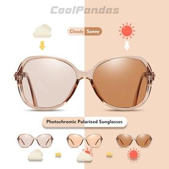 2020 Photochromic Sunglasses Women Polarized Chameleon Glasses Driving Tinted Goggle Anti-glare Sun Glasses lunette soleil femme