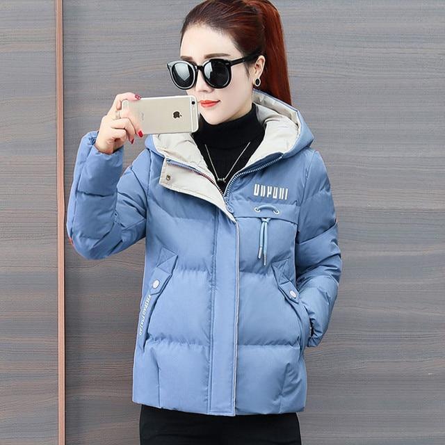 2020 nouvelle veste d'hiver femmes Parkas à capuche épais vers le bas coton rembourré Parka femme veste courte manteau mince vêtements d'extérieur chauds P772 5