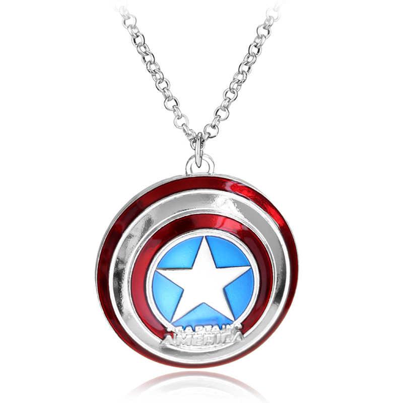מארוול קומיקס נוקמי שרשרת גיבור לוגו תליון שרשראות גברים נשים תכשיטים מגניב צווארון אביזרים
